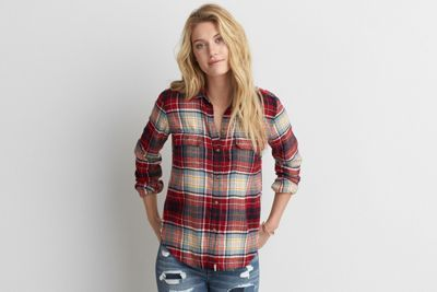 AEO Ahh-mazingly Soft Flannel Shirt by  American Eagle Outfitters | This is way soft. Like, ahh-mazingly soft. So soft you'll never take it off. Shop the AEO Ahh-mazingly Soft Flannel Shirt and check out more at AE.com.