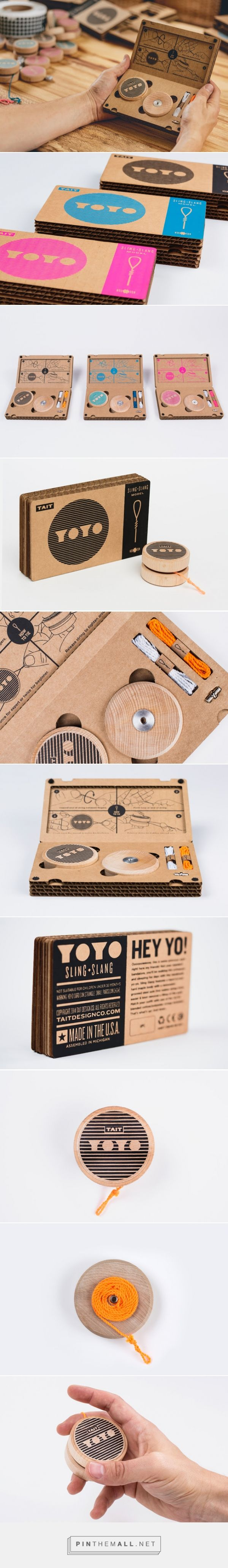 Sling-Slang YOYO Designed by TAIT Design Co. Image Credit: Aaron Jones  Video Credit: Gentlemen Project Type: Produced, Commercial Work  Location, Detroit, USA Packaging Materials: Cardboard, Velcro