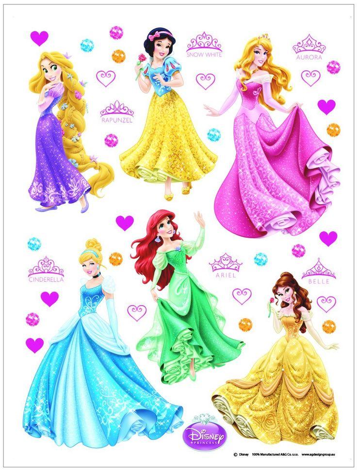 Disney Princess Décoration Sticker Adhesif Mural Géant Répositionnable: Amazon.fr: Cuisine & Maison