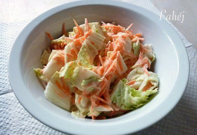Joghurtos kínai kel saláta ahogy Fahéj készíti