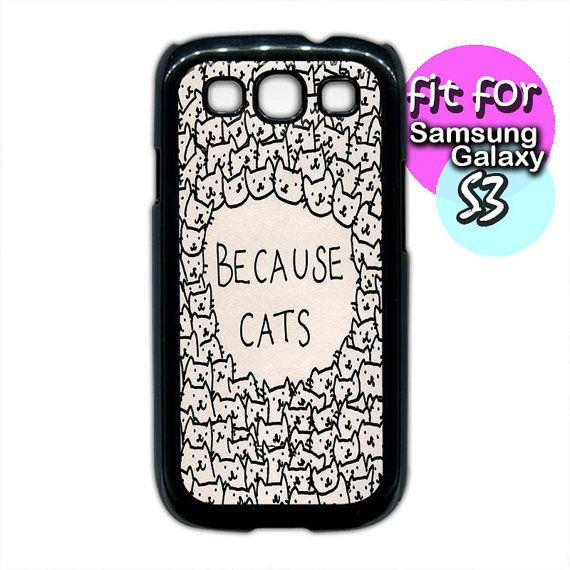 a lot cat because cats pattern case for samsung galaxy s4 by etbay, $12.99