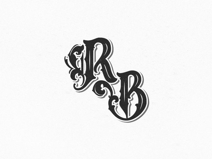 Monogram logo I did for Rumble Bros. Boxing Supply Co.