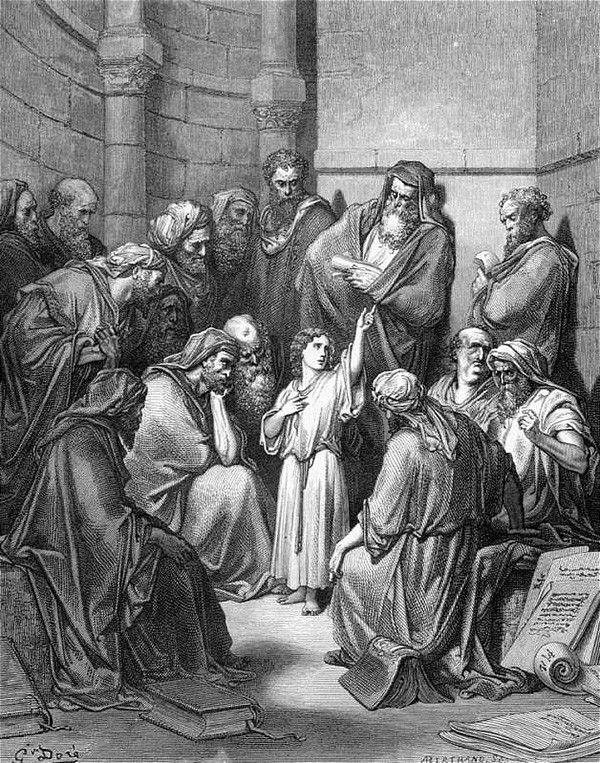 Gustave Dore Zwölfjähriger Jesus im Tempel …   – Christlicher Glaube