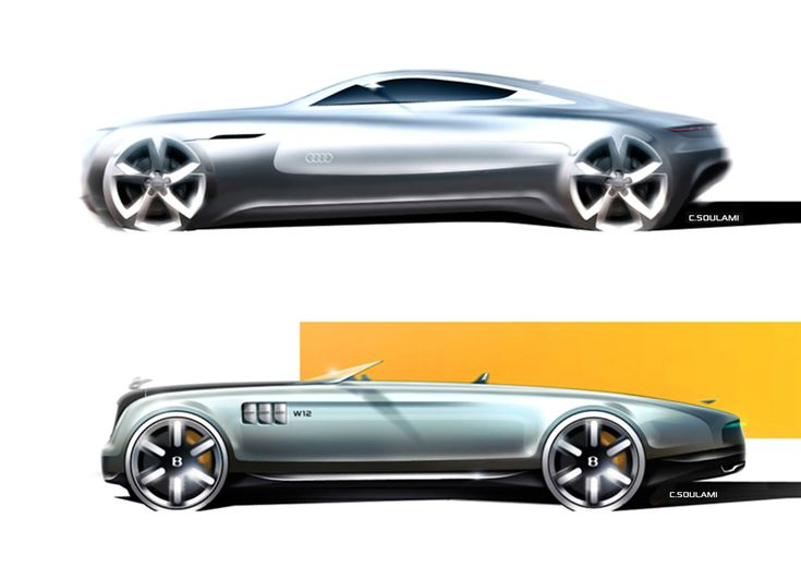 Audi and Rolls-Royce Concept Design Sketches by Identi2 Design Studio