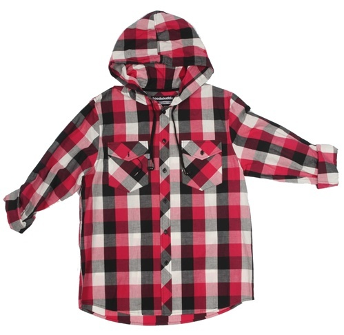 Woven Red Flannel Print HoodieBuddie with HB3 Technology