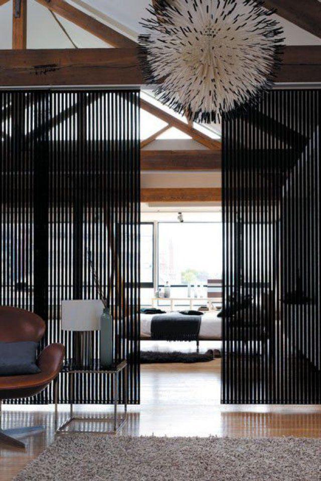 Des panneaux japonais en guise de séparation de pièce - Marie Claire Maison
