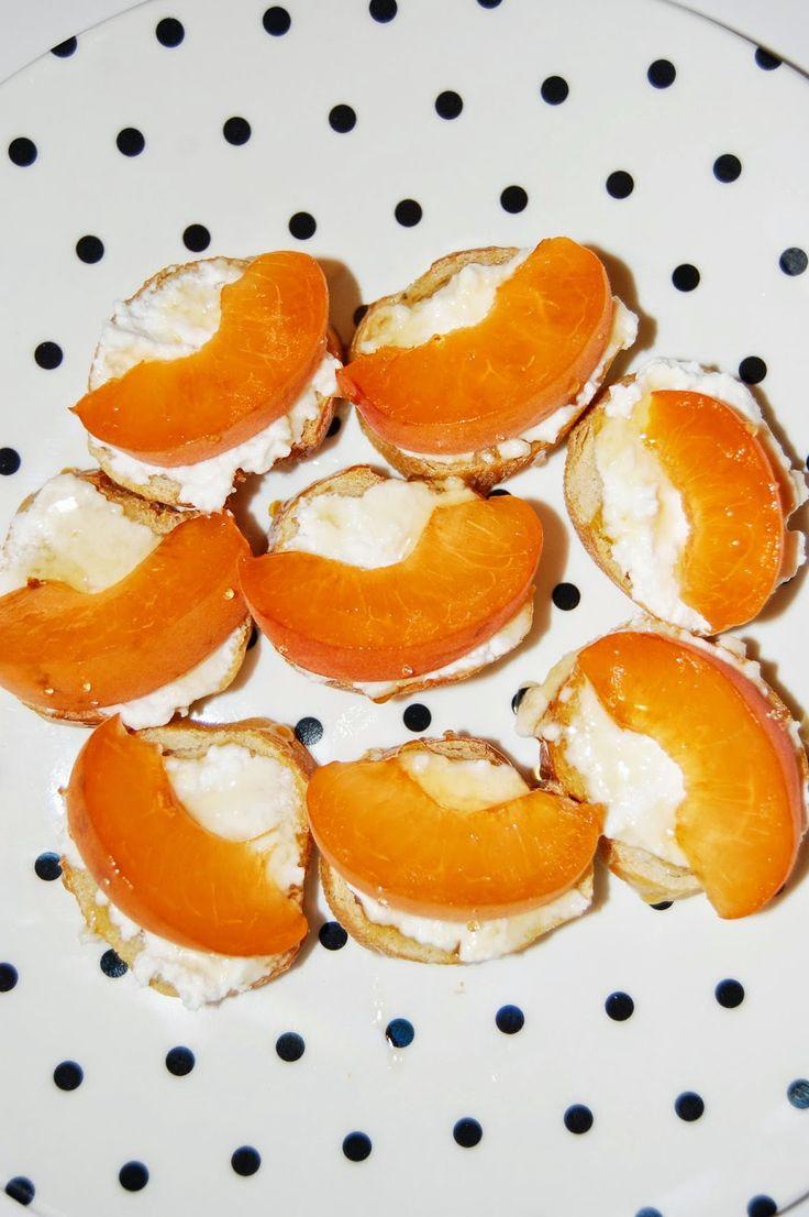 Apricot and Honey Crostini
