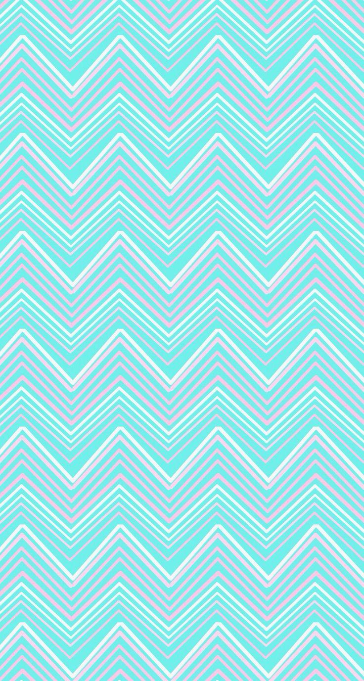 Aqua blue pink chevron iphone wallpaper phone background lock screen