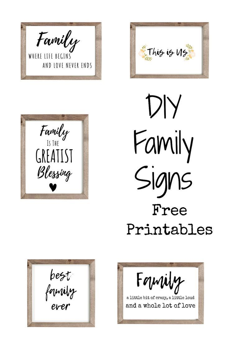 5 Easy Diy Family Signs Domestic Heights Wall Decor Printables Family Signs Diy Family Signs