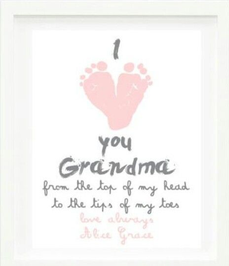 Cute idea for mother's day / DIY gifts / DIY crafts / kid footprint painting