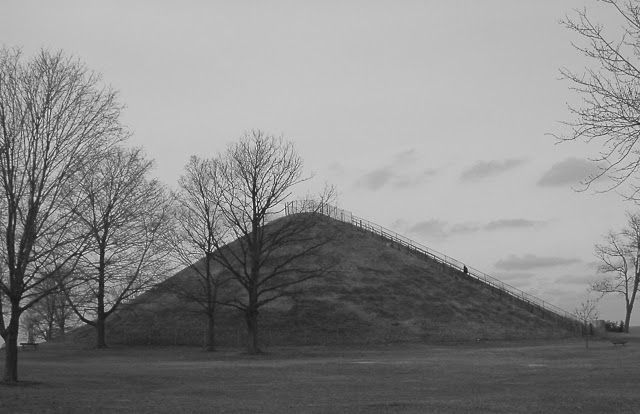 """Ohio's Largest Mound at Miamisburg, .Ohio. Photo from, """"The Nephilim Chronicles: A Travel Guide to the Ancient Ruins in the Ohio Valley."""""""