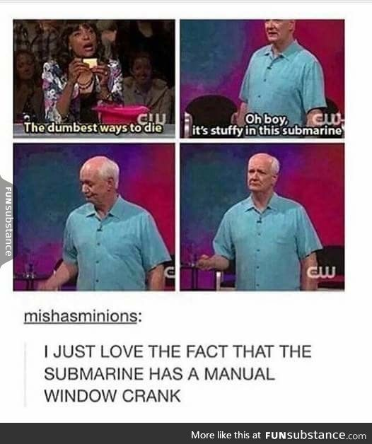 Whose line is it anyway? is the show where the points don't matter like your ex. I know bad joke