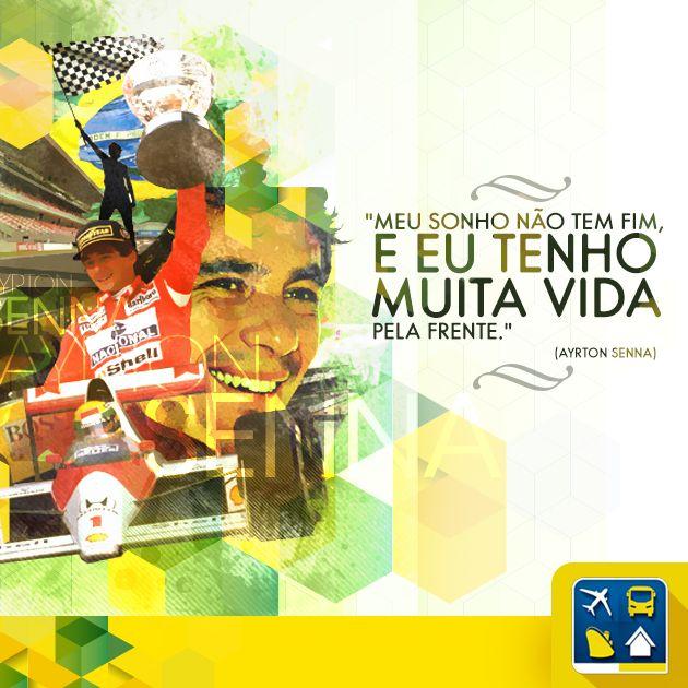 Um campeão inspira uma nação. Nossa homenagem ao grande piloto Ayrton Senna, que completaria 54 anos hoje, 21 de março. Sua vida é eterna no coração de todo o Brasil.
