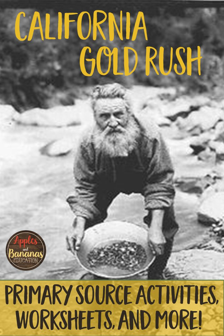 Teach your students about the California Gold Rush with engaging activities, graphic organizers, primary sources, and more!