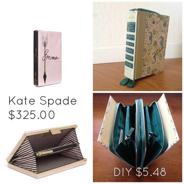Scribbles From Emily DIY Book Clutch A La Kate Spade With Little Bigger Or Wallet Bit Smaller This Would Hide Better And Look More Like The