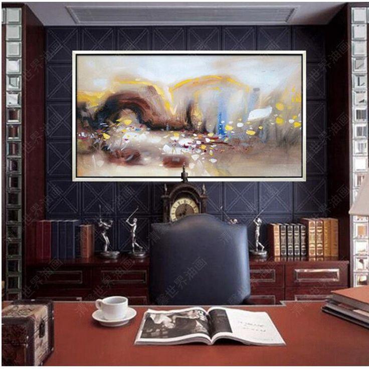Ручной работы Картины Маслом Абстрактные Картины Маслом мастихином Толстая Wieco Искусства готовы Повесить Холст Украшения Дома