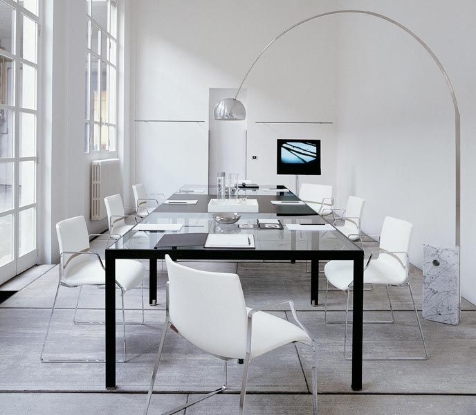 Minimalistic meeting room table design #meetingroom #office