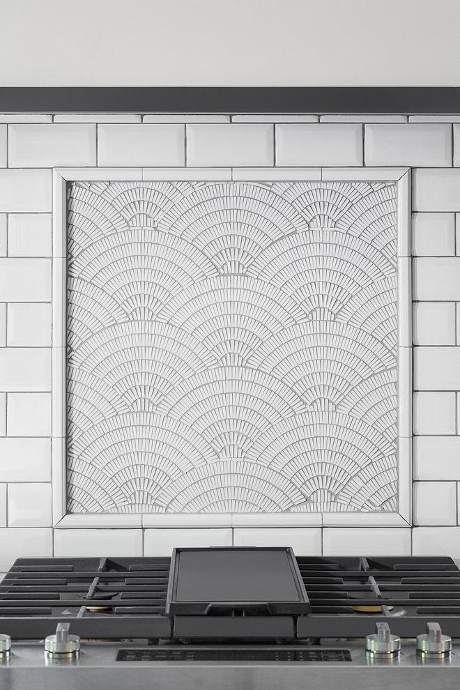 kitchen accent tile above range accent