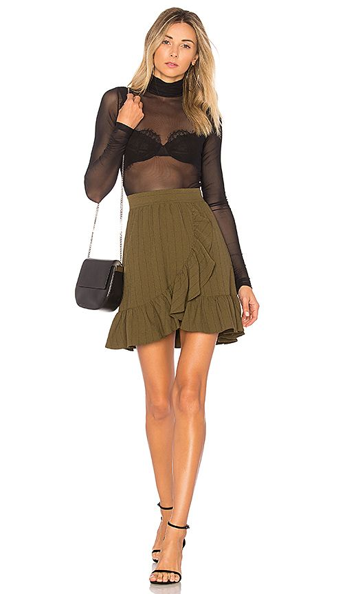 Shop for Ganni Clark Skirt in Army at REVOLVE. Free 2-3 day shipping and returns, 30 day price match guarantee.