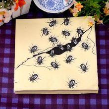 330 мм X 330 мм папиросной бумаги салфетки печать носовые платки для дня рождения подарок с костер червь(China (Mainland))