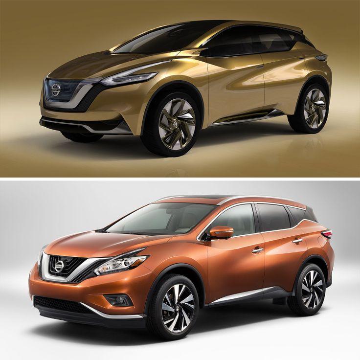 Nissan Resonance Concept And 2015 Murano Design Comparison