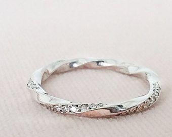 Mobius Diamantring Gold Diamant Ring Diamant von AntEvaCrafts