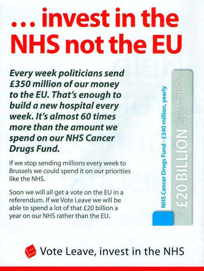 Leading members of Brexit campaign call for privatisation of the NHS (and much worse) | Pride's Purge