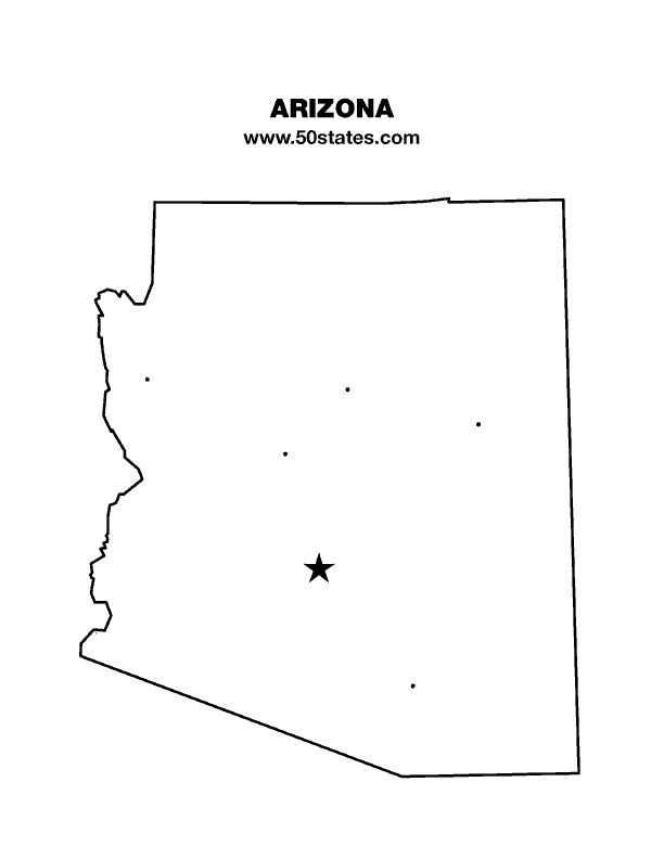 Blank Map Of Arizona Find This Map And The Other 49