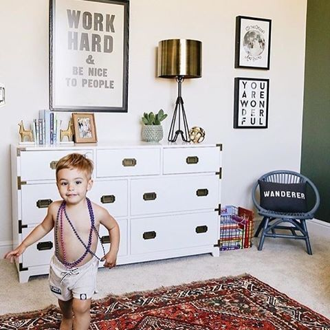 Running toward the weekend! Great example of a fab nursery that transitioned seamlessly to a big boy room. Image by @kailawalls  Get more kids room inspo over on @projectjunior!
