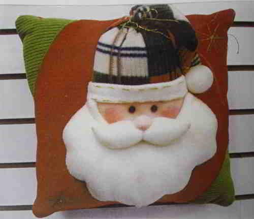 Molde Cojin Santa Claus.