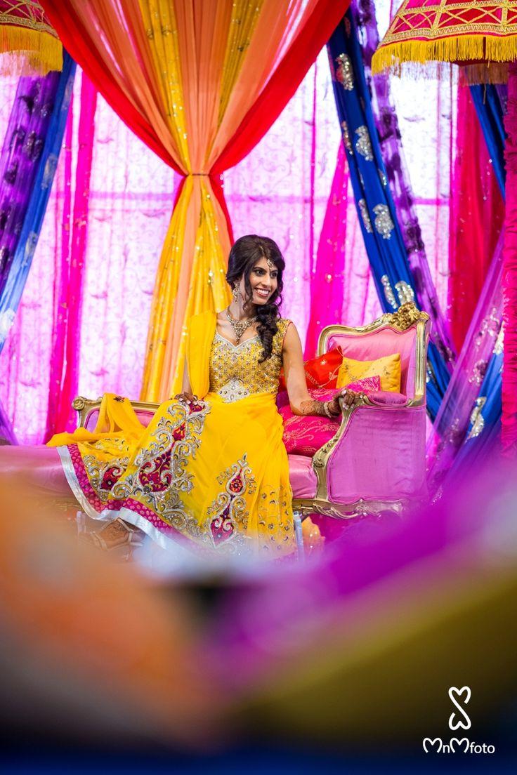 asian wedding photography east midlands%0A Dallas based Ismaili Wedding Photographer Noahs Event Center wedding venue   Bride in yellow dress