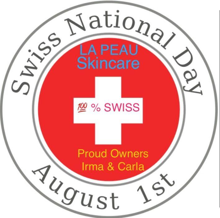 #SwissNationalDay LA PEAU SKINCARE 100% SWISS 🇨🇭💯🔝❤️