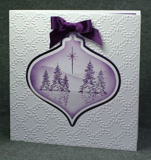 Clarity stamps and Spellbinders Christmas Ornament card.
