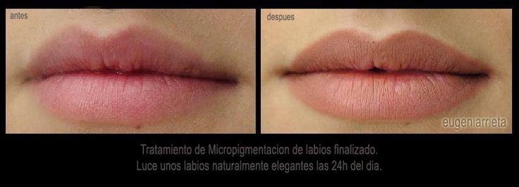 Micropigmentacion de Labios. Relleno de Labios. Maquillaje permanente. Eugenia Arrieta Micropigmentación.