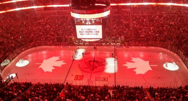 A special moment in Pittsburgh.  Penguins fans sing 'O Canada' in touching tribute to Ottawa before the Flyers-Penguins game 10-22-2014