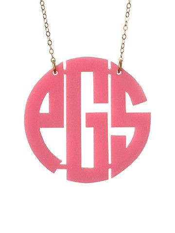 ACRYLIC BLOCK MONOGRAM NECKLACE    Cute! looking for a good monogram necklace!