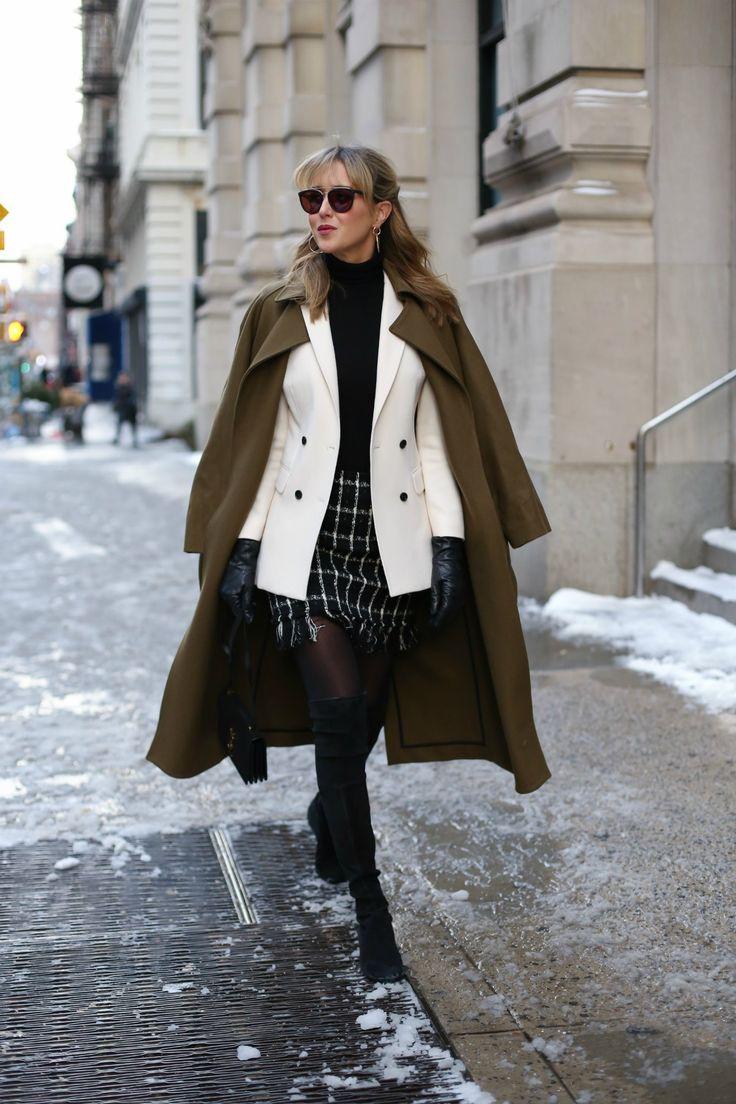 Ivory Blazer and Checked Mini | MEMORANDUM | NYC Fashion & Lifestyle Blog for the Working Girl
