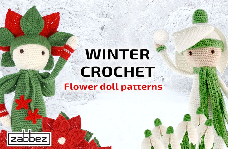 Zabbez Crochet Patterns : Winter crochet amigurumi - Zabbez flower doll crochet patterns