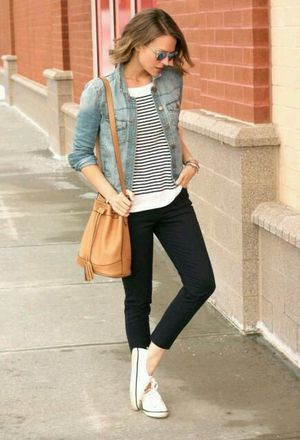 Look by @kitas with #bershka #sneakers #zara #jeans #stripes #forever21 #converse #jackets #whitesneakers #bags #tshirts.