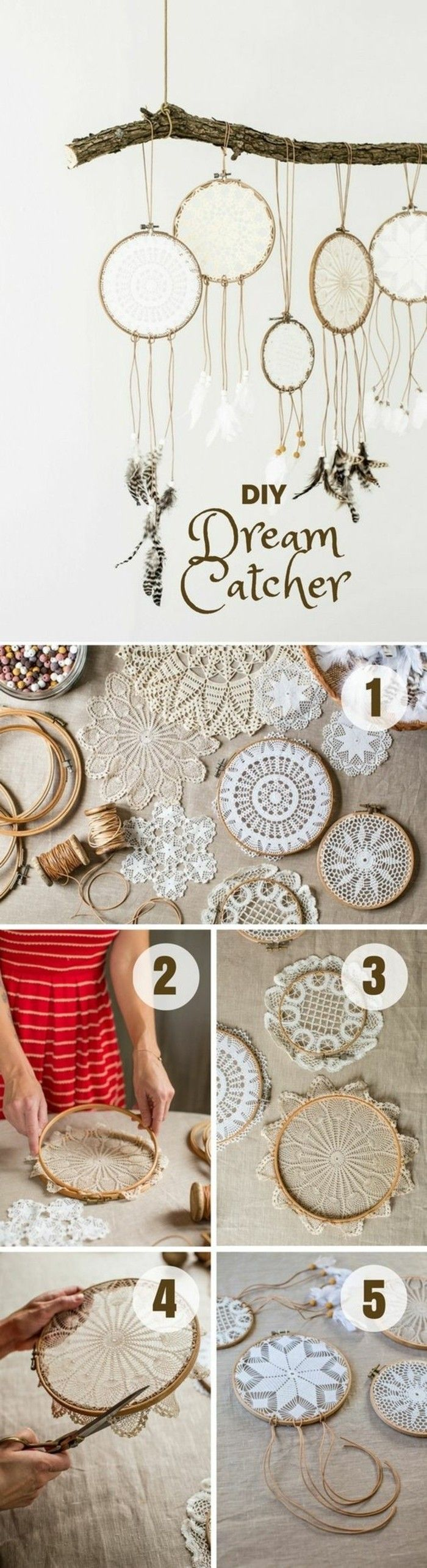 ▷1001 + Concepts for DIY Dreamcatcher Tutorials and 70 Beautiful Images