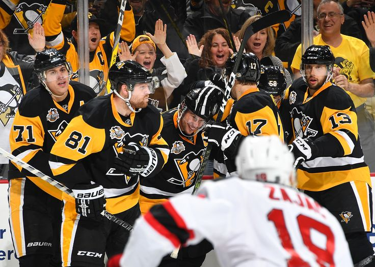 November 26, 2016 vs. New Jersey. Sidney Crosby tied the game with :14 left to force overtime and Kris Letang netted the shootout winner. Final Score, 4-3 Penguins (SO).