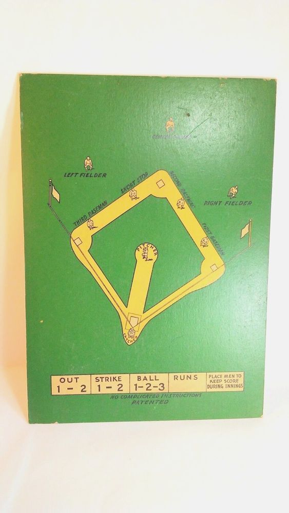 Vintage - Walter Johnson's Baseball Board game BOARD ONLY