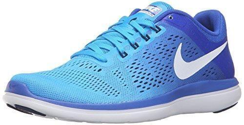 quality design e18c7 85e4a NIKE Women s Flex 2016 RN Running Shoe, Blue Glow White Racer Blue Midnight  Navy, 9 B US