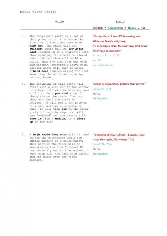 Video Script Template Video Script Screenplay Template Script
