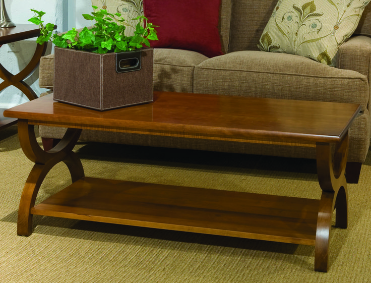Transitional Cocktail Table. #MadeInCanada #SolidWood