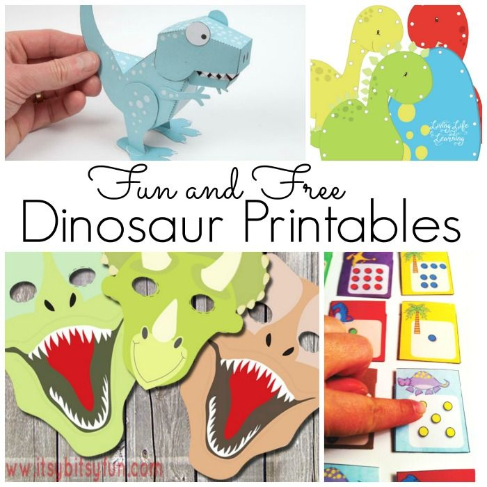A Ton Of Free Dinosaur Printables For Kids Crafts