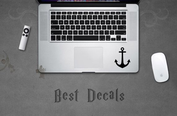 Anchor Sticker Macbook Nautical Anchor Decal for Laptop MacBook iPad iPhone 3DS PS4 XBOX Car Party Birthday Gift Boat Shirt Dress Hoodie Cap