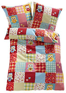 "Sängkläder ""Uggla"", bpc living, färgmix"