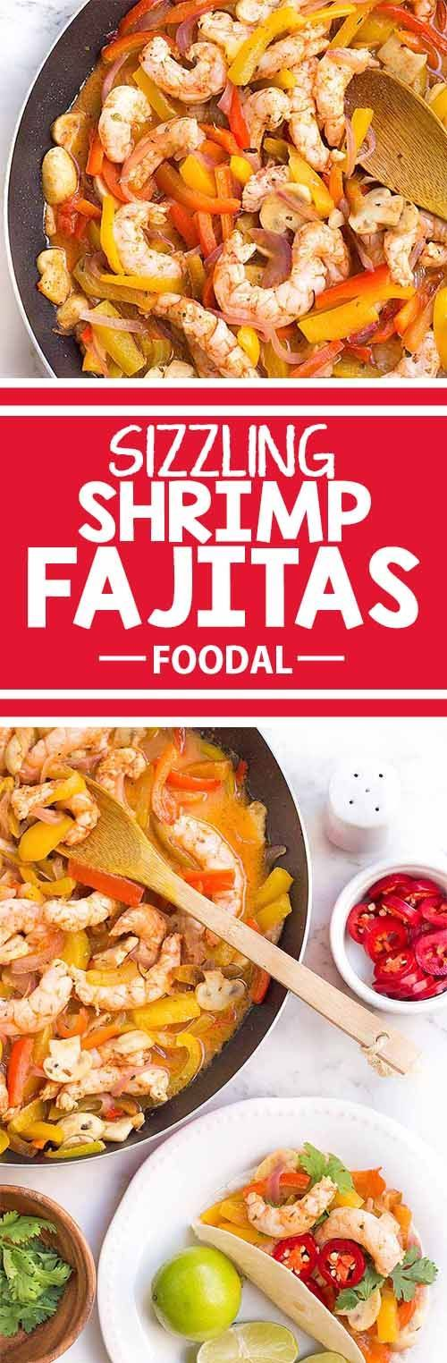 If you love spicy Mexican food, then you�ll absolutely enjoy these amazing shrimp fajitas. They�re a cinch to make, taste like you�ve worked on them all day, and look fantastic. These colorful and flavorful fajitas are the perfect dish to serve and impres