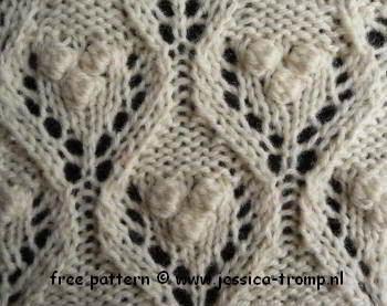 Lace Knitting Stitch #77 | Lace Knitting Stitches